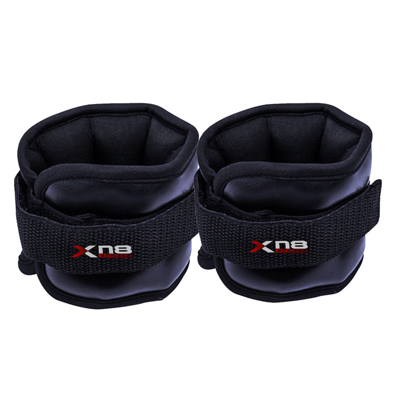 Xn8 Sports Adjustable Ankle Weights Black