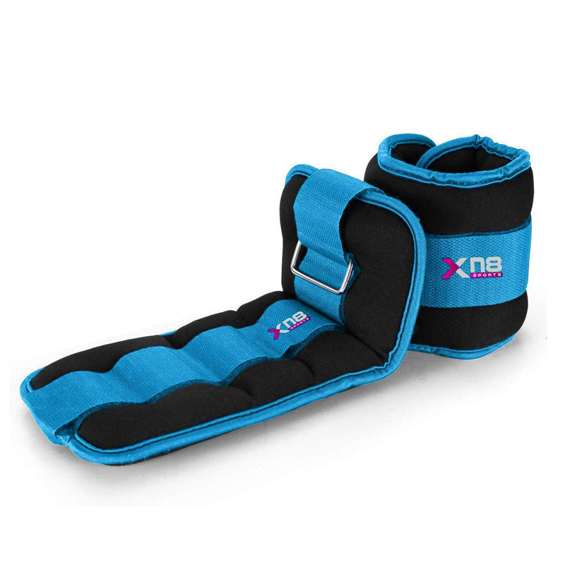 Xn8 Sports 2.5 Kg Ankle Weights Blue