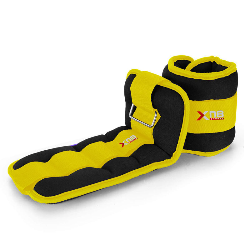 Xn8 Sports Heavy Ankle Weights Yellow