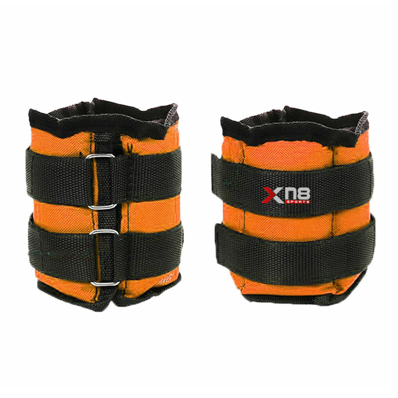 Xn8 Sports Adjustable Ankle Weights Orange
