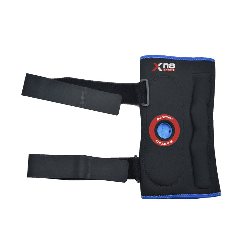 Xn8 Sports Black Knee Support Blue