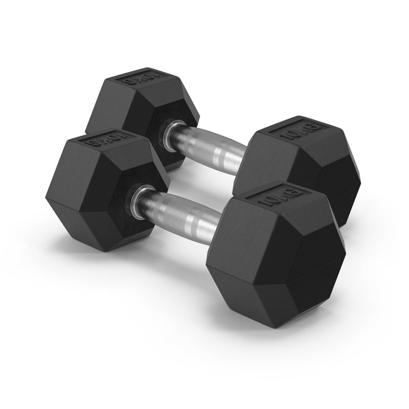 Xn8 Sports Rubber Hex Dumbbell Set