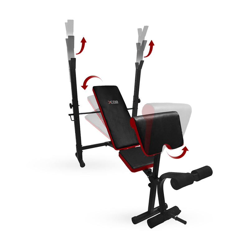 Xn8 Sports Weight Bench Black