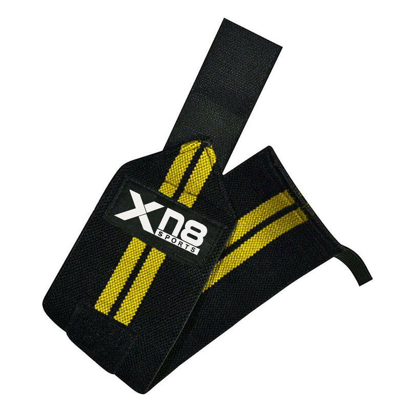 Xn8 Sports Wrist Straps Weightlifting Yellow Colour