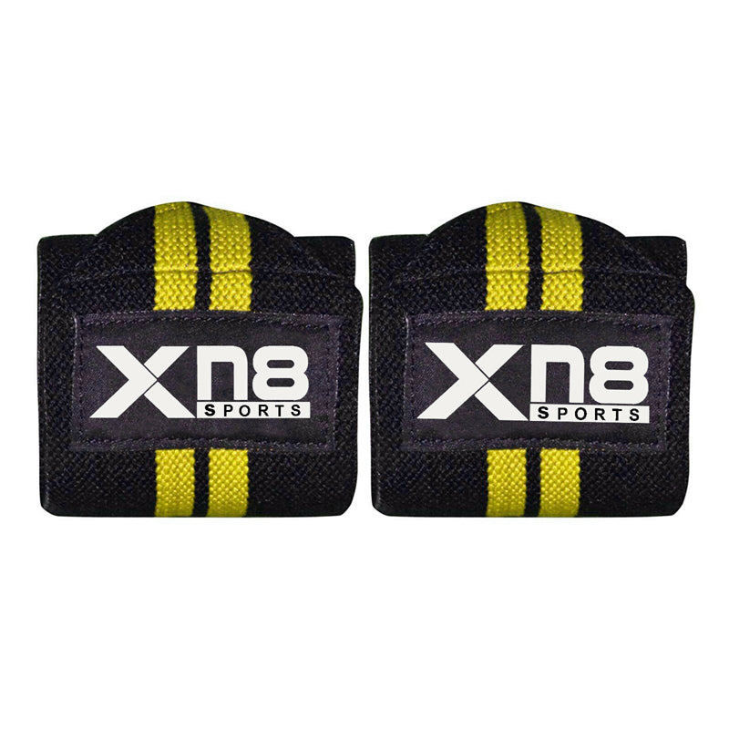 Xn8 Sports Wrist Straps Weightlifting Yellow Color