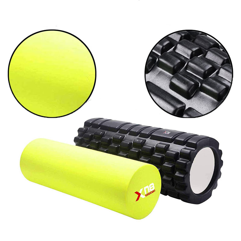 xn8 sports yoga foam roller yellow