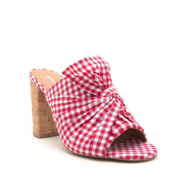 Red Checker Picnic Heel-Shoe-Cocoplum Boutique