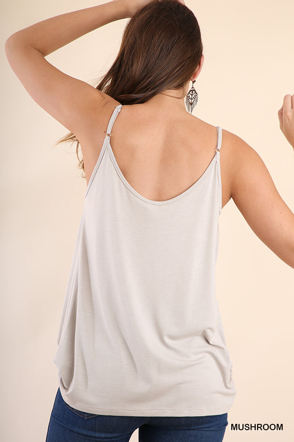 Cowl Neck Cami-Apparel-Cocoplum Boutique