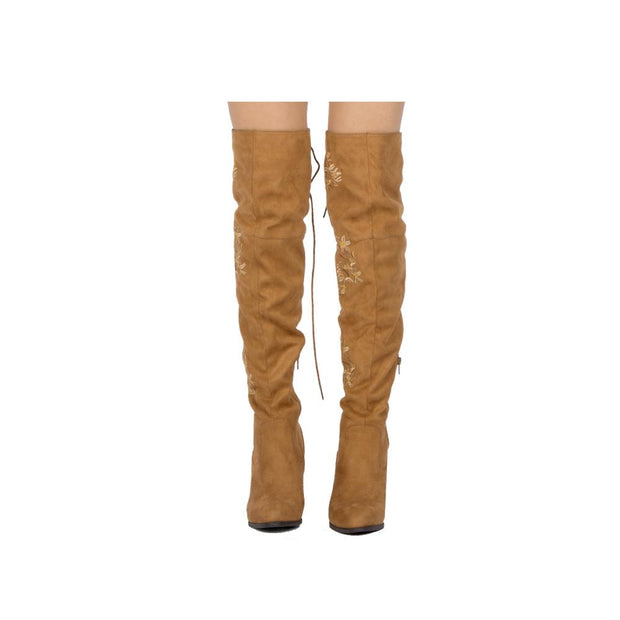 PerSuede Me Over the Knee Stretch Suede Boot-Shoe-Cocoplum Boutique