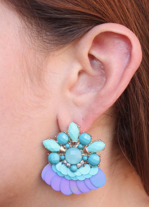 Flirty Embellished Stone Earring-Accessories-Cocoplum Boutique