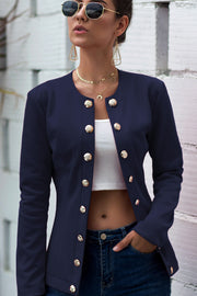 Button Up Knit Jacket-Apparel-Cocoplum Boutique