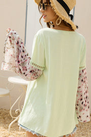 Snake Print Bell Sleeve Top-Apparel-Cocoplum Boutique