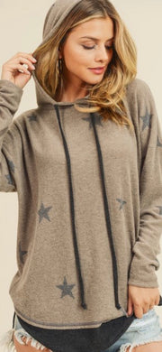Reach for the Stars Hooded Sweatshirt-Apparel-Cocoplum Boutique