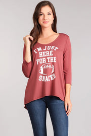 Just Here For the Snacks Graphic Tee-Apparel-Cocoplum Boutique