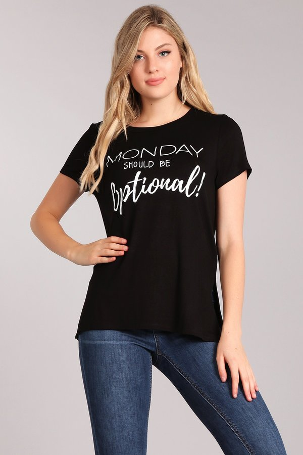 Monday Should Be Optional Graphic Tee-Apparel-Cocoplum Boutique