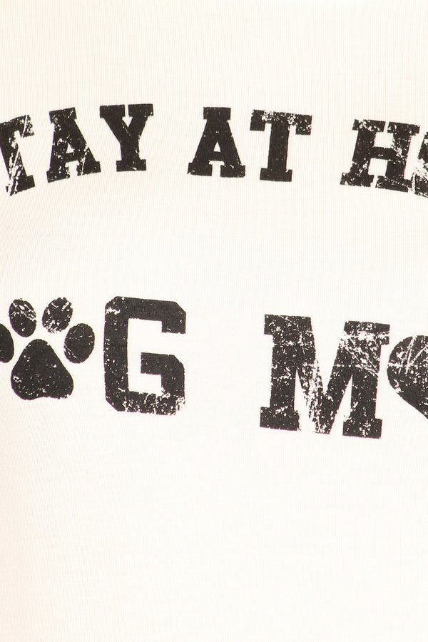 Stay At Home Dog Mom Graphic Tee-Apparel-Cocoplum Boutique