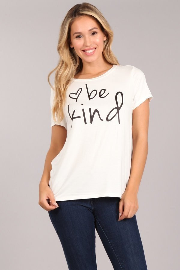 Be Kind Graphic Tee-Apparel-Cocoplum Boutique