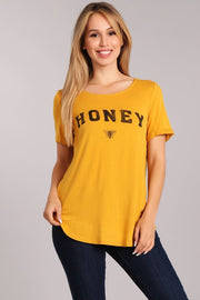 Honey Graphic Tee-Apparel-Cocoplum Boutique