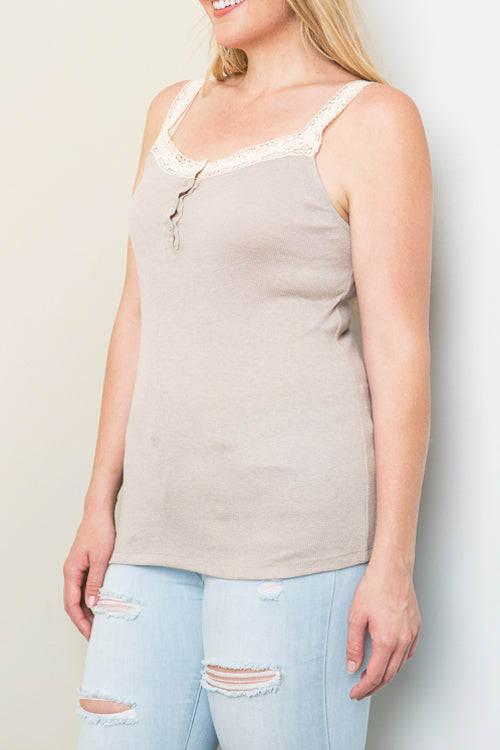 Delicate Ribbed Tank-Apparel-Cocoplum Boutique