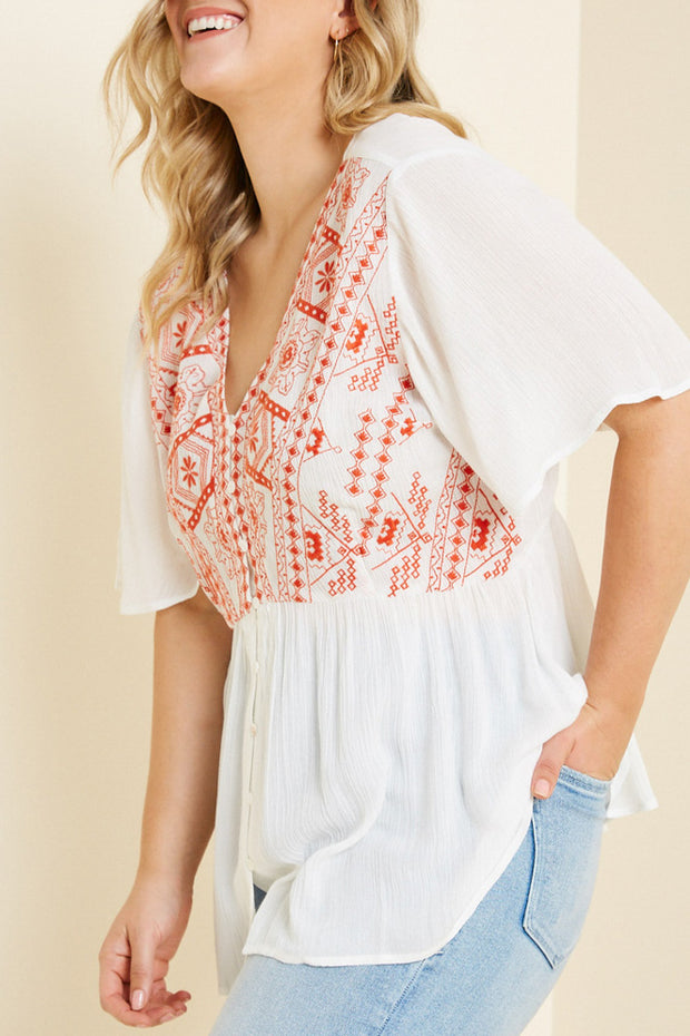 Floral Button-Down Top-Apparel-Cocoplum Boutique
