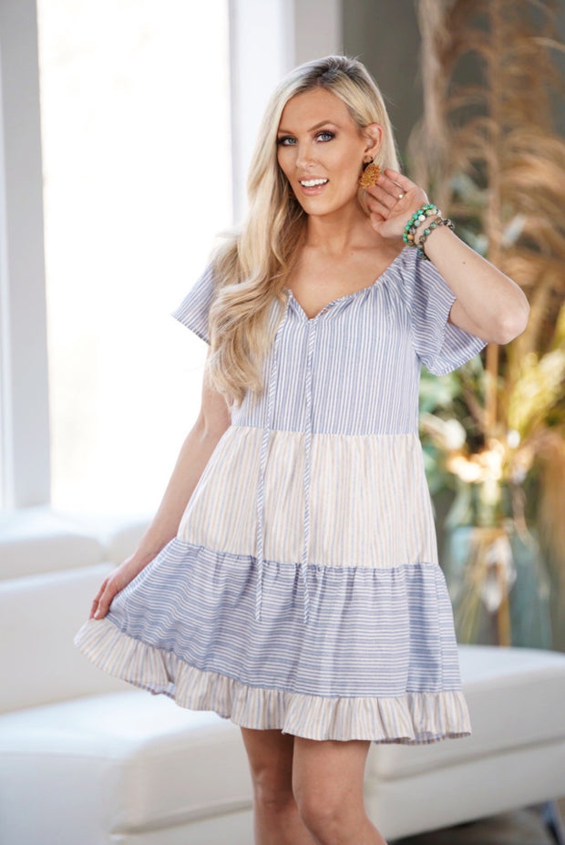 Ruffled Baby Doll Dress-Apparel-Cocoplum Boutique