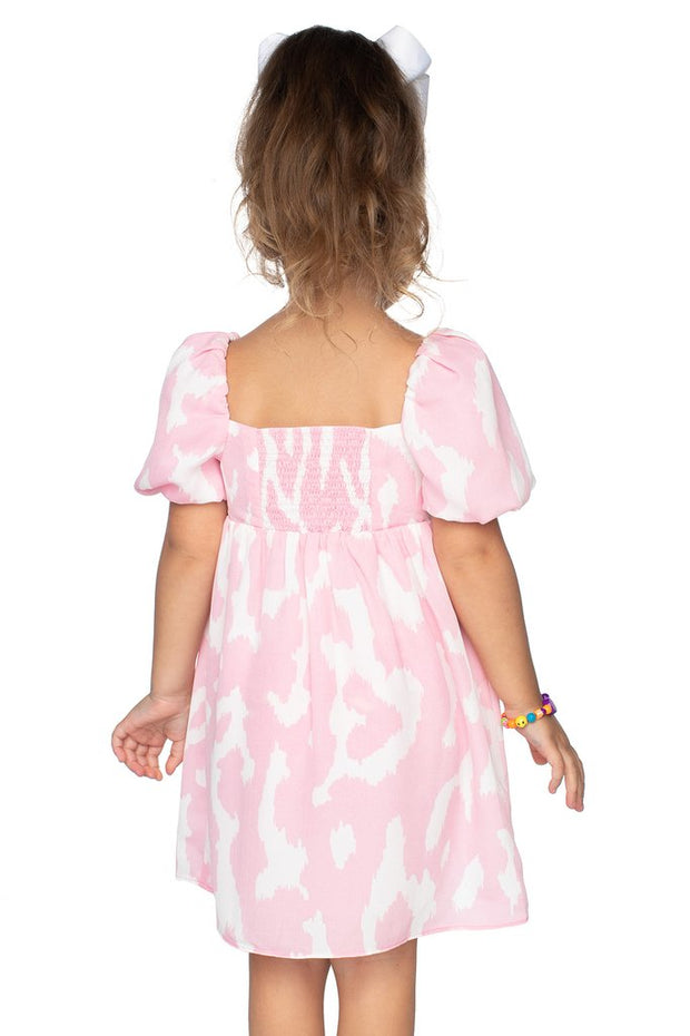 Girls Abstract Baby Doll Dress Mommy and Me-Apparel-Cocoplum Boutique