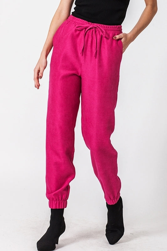 Love Me Pink Knit Jogger-Apparel-Cocoplum Boutique