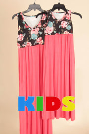 Floral Top Maxi-Kids-Cocoplum Boutique