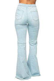 High Waisted Flared Jeans-Apparel-Cocoplum Boutique