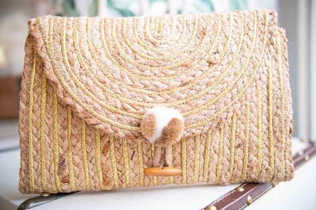 Enshrine Handwoven Clutch-Accessories-Cocoplum Boutique