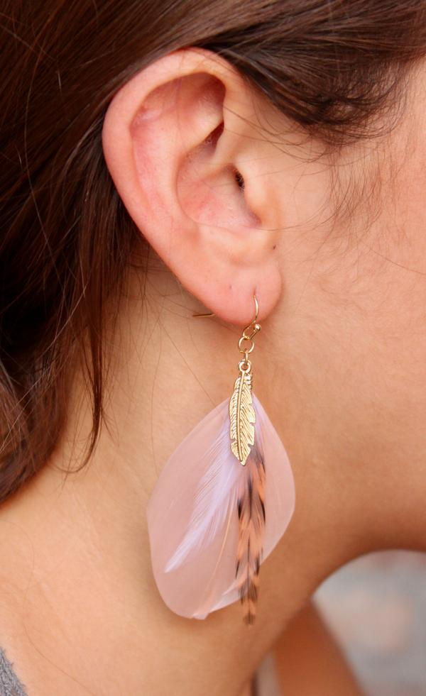 Feather Drop Earring-Accessories-Cocoplum Boutique