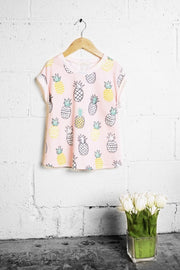 Pineapple Peach Kids Top-Kids-Cocoplum Boutique
