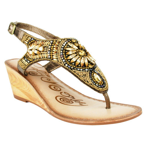 Jeweled Sandals, Naughty Monkey-Shoe-Cocoplum Boutique