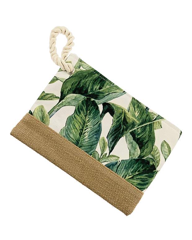 Tropical Leaves Hand Tote-Accessories-Cocoplum Boutique
