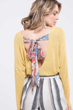 Bell of the Ball Back Tie Sweater-Apparel-Cocoplum Boutique