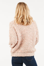 Blush Confetti Sweater-Apparel-Cocoplum Boutique