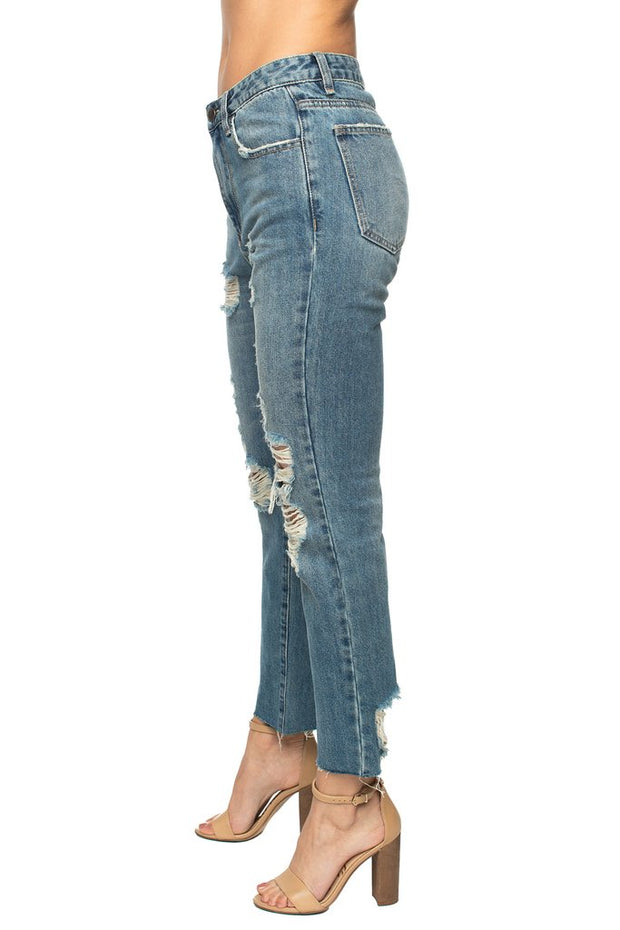 Dylan Distressed Jeans-Apparel-Cocoplum Boutique