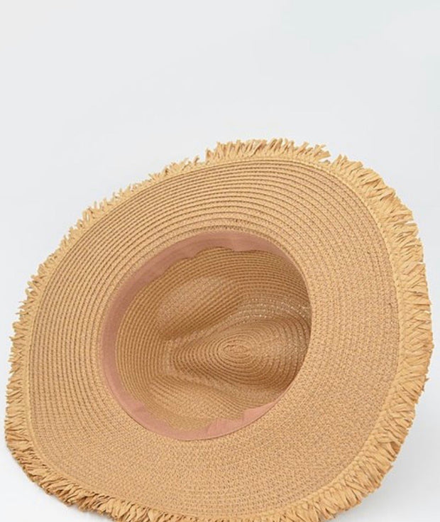 Belted Animal Print Sunhat-Accessories-Cocoplum Boutique