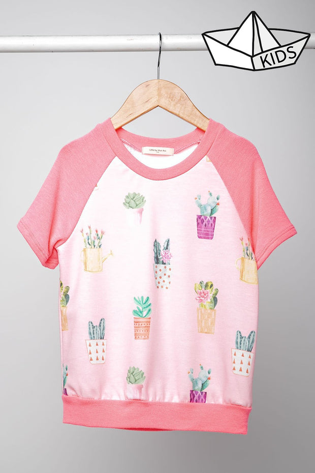 Colorful Cactus Kids Top-Kids-Cocoplum Boutique