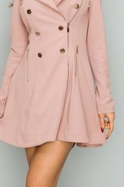 Flare Blazer Dress Coat-Apparel-Cocoplum Boutique
