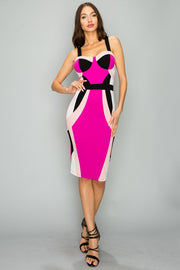Color Block Bodycon Dress-Apparel-Cocoplum Boutique