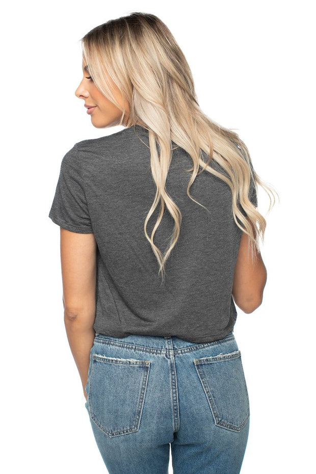 Cropped Graphic Tee- Queso and Beer-Apparel-Cocoplum Boutique