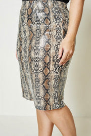 Sequin Snakeskin Pencil Skirt-Apparel-Cocoplum Boutique