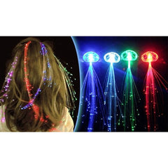 Multi colour LED Hair Extensions - 5 pack