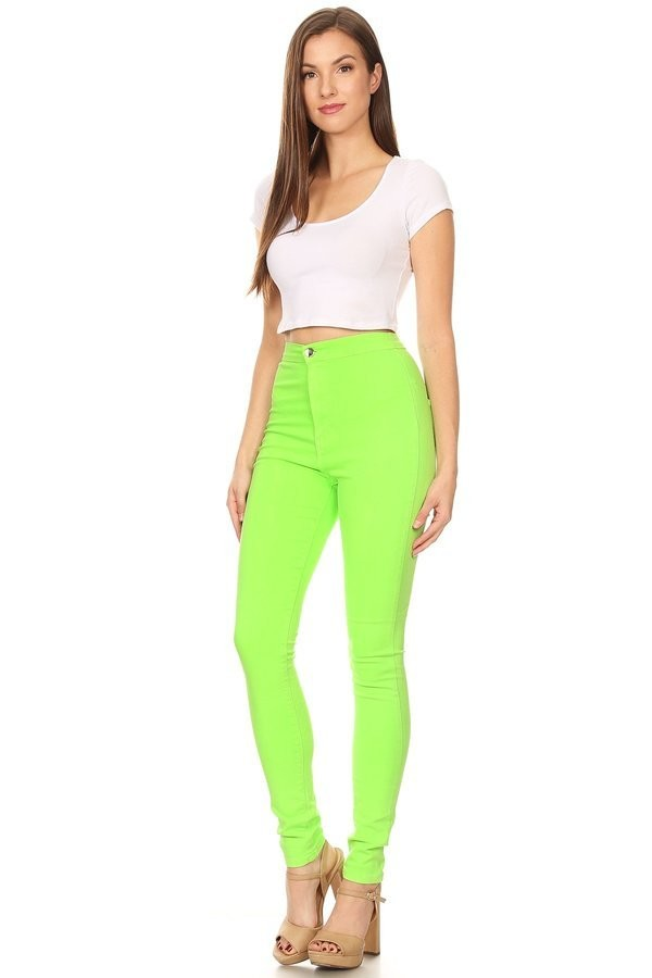 Neon Lime Skinnies - DaLoCh Online Boutique