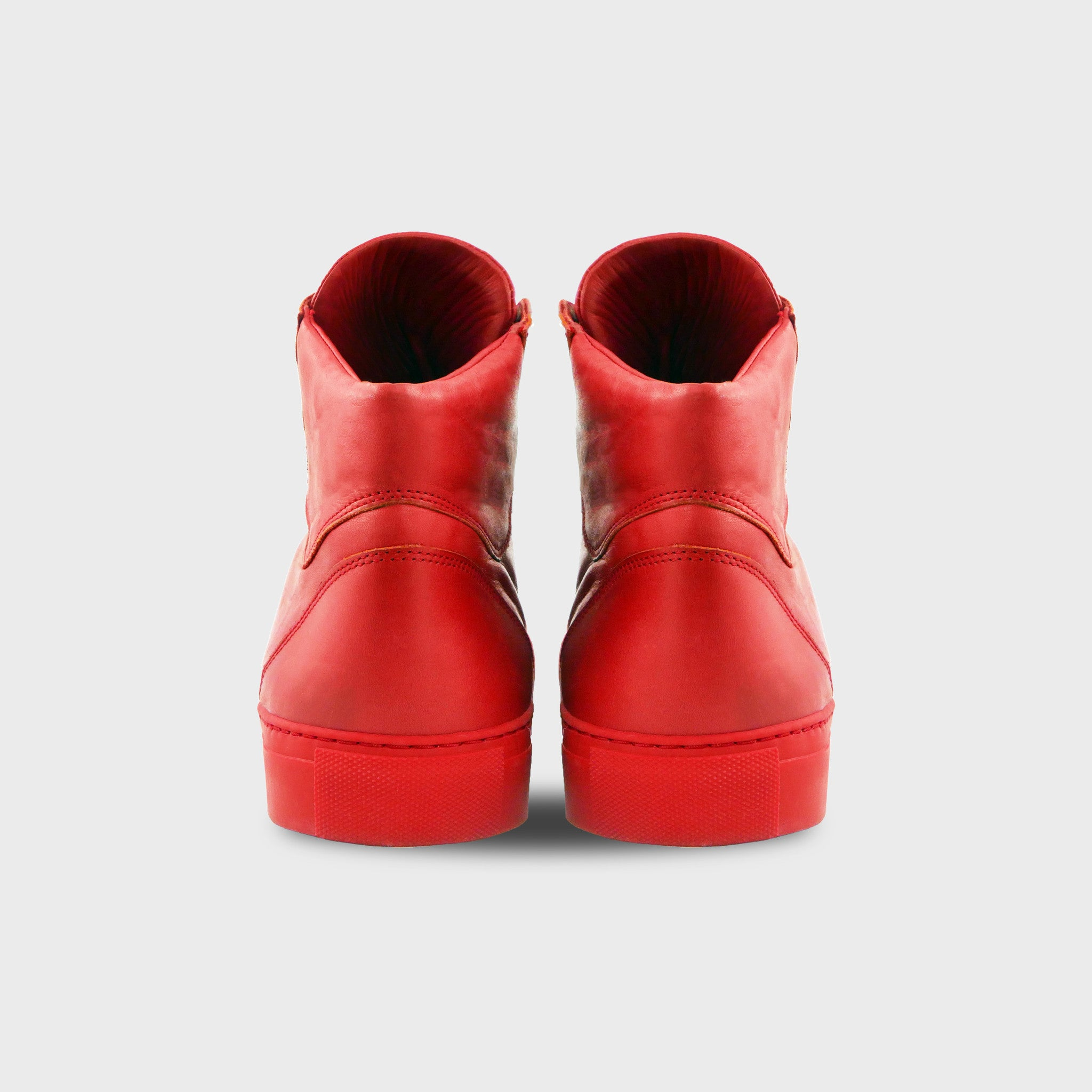 Black Phoenix High Top In All Red