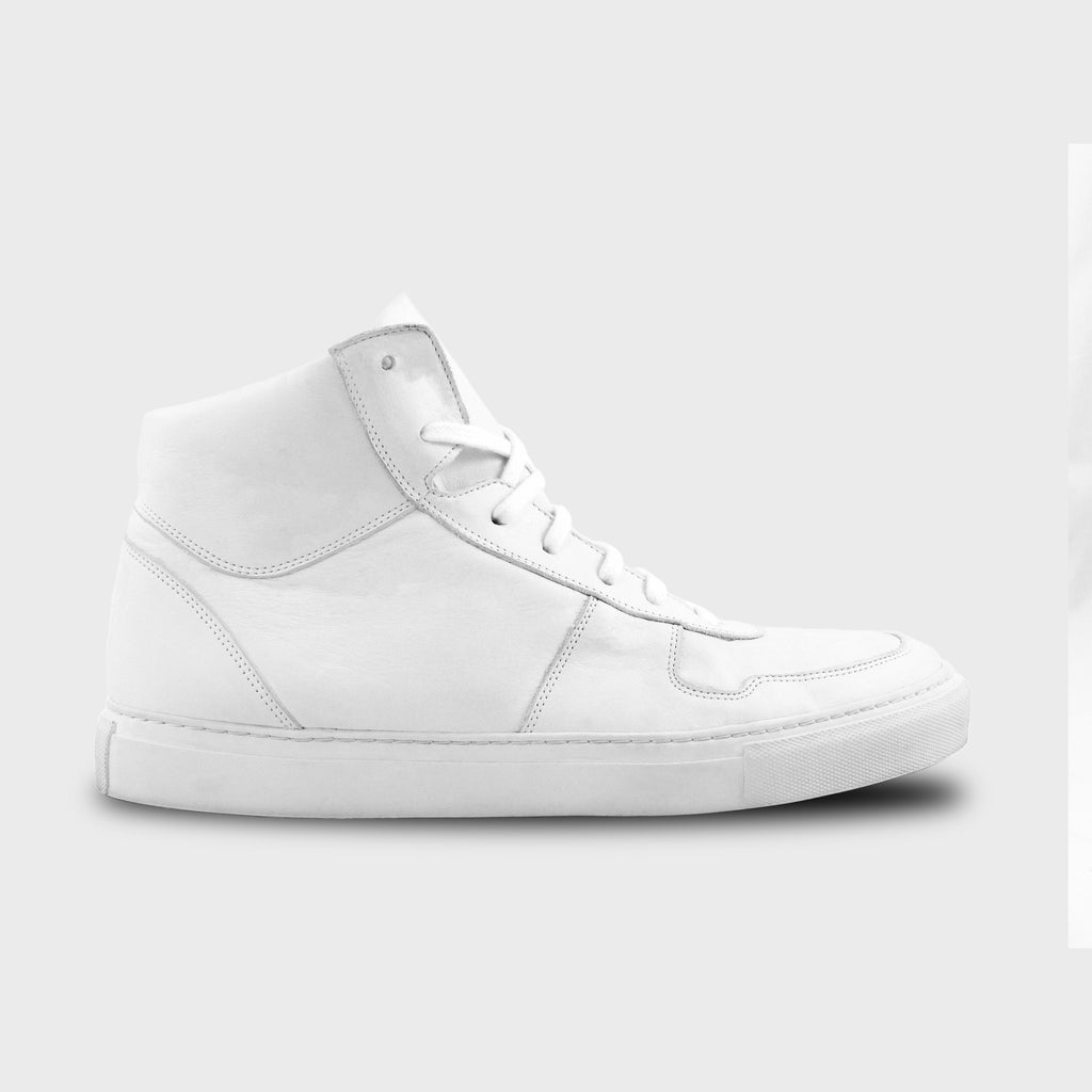 Black Phoenix High Top In All White