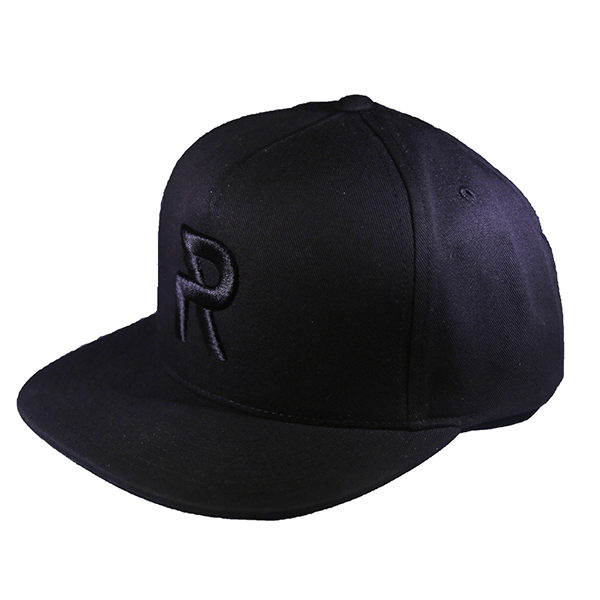 Ryan Leslie 'Signature R' Black on Black Snapback