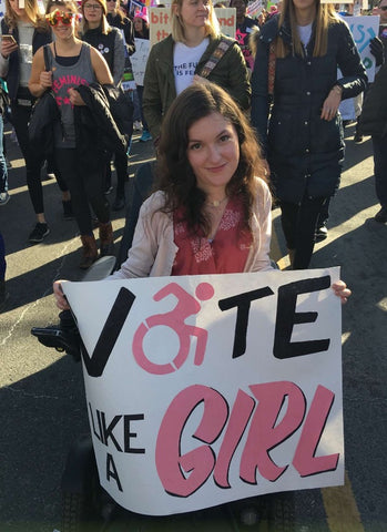 Anna at the Women's March