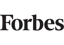 Logo of Forbes in black